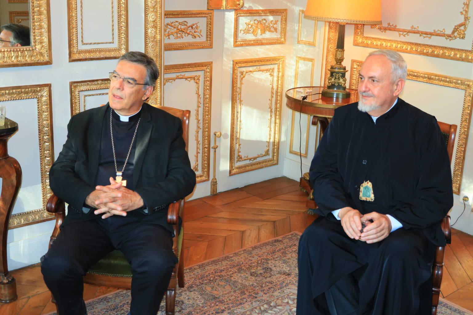 IMG 0301 - Συνάντηση του Μητροπολίτη Γαλλίας με τον ΡωμαιοκαθολικόΑρχιεπίσκοπο Παρισίων